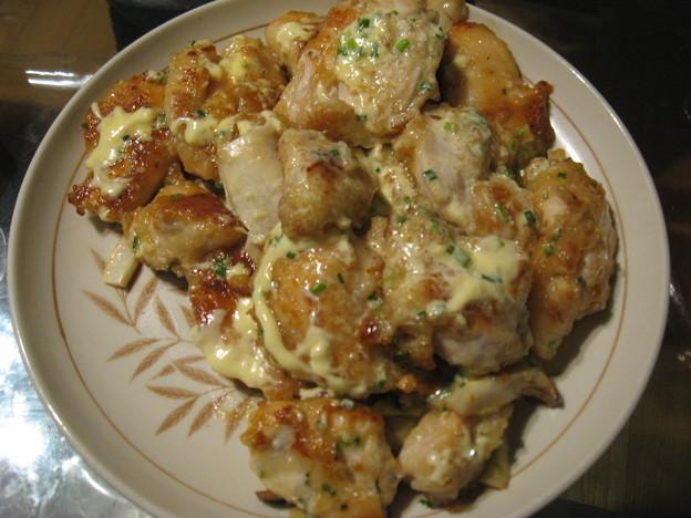 写真: 鶏のマヨぽん炒め