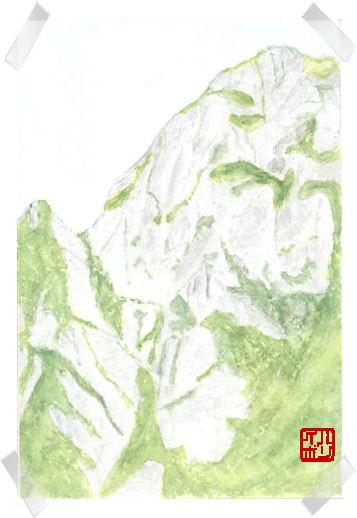 15剣岳源次郎尾根二峰平蔵側岩壁